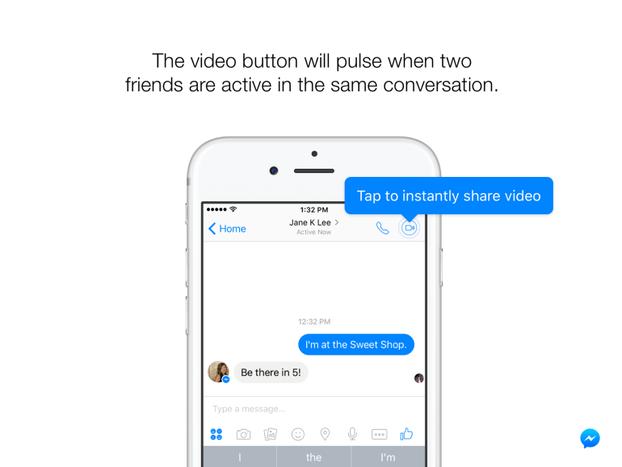 В Facebook Messenger появились видеотрансляции