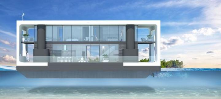 Представлен концепт плавучего, полностью автономного дома (фото)