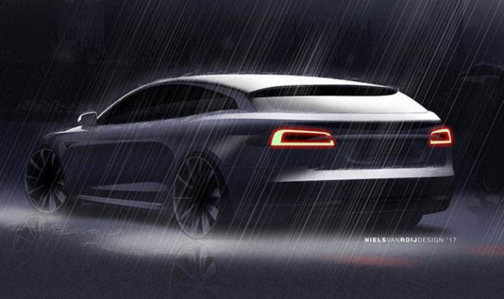 Британский электрокар: в сети появились изображения нового универсала на базе Tesla (фото)