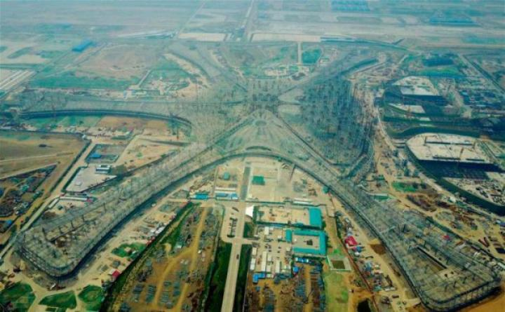 Под Пекином достраивают самый большой аэропорт в мире (фото)