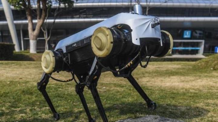 В Китае показали четырехногого робота