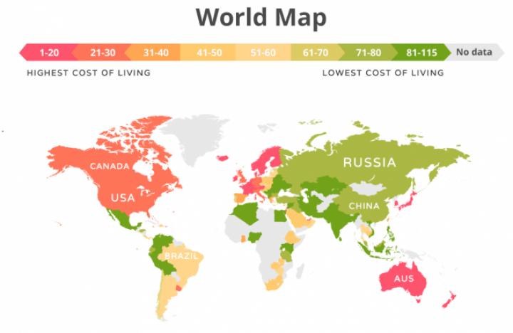 Украина попала в ТОП-3 самых дешевых стран для жизни