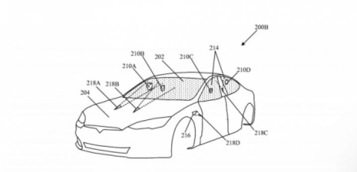 Tesla запатентовала лазерные «дворники» для ветрового стекла