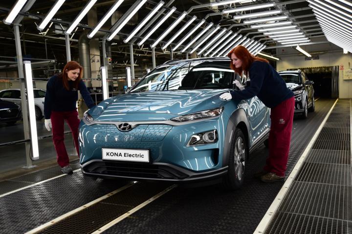 Hyundai открывает производство электрокроссовера Kona Electric на заводе в Чехии (фото)