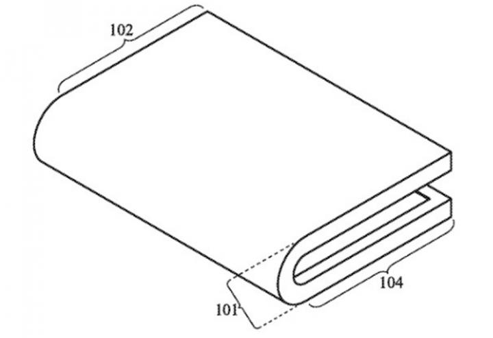 Apple подала патент смартфона-книжки с гибким дисплеем (фото)