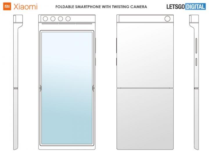Xiaomi придумала смартфон с гибким экраном и поворотной квадрокамерой (фото)
