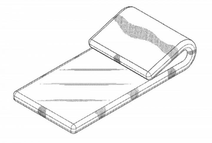 Samsung запатентовал новый гибкий смартфон (схема)
